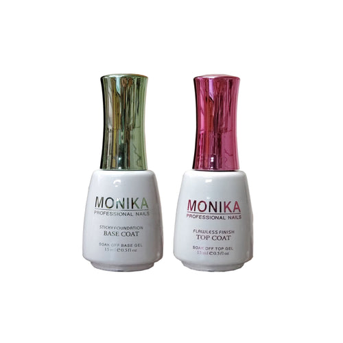 Monika Gel Duo Top & Base Coat Soak off Deal