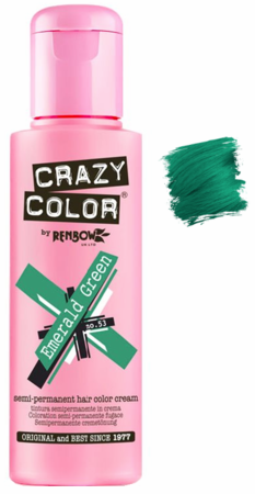 Crazy Color vibrant Shades -CC PRO 53 EMERALD GREEN 150ML