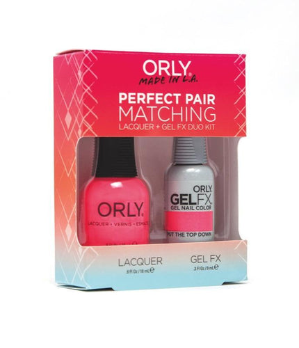 Orly Duo Put The Top Down (Lacquer + Gel) .6oz / .3oz 31183-Beauty Zone Nail Supply