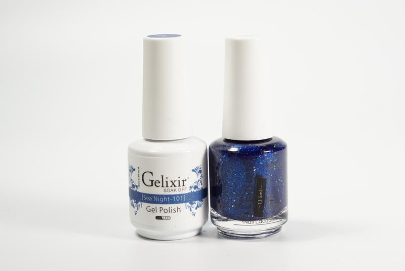 Gelixir Duo Gel & Lacquer Sea Night 1 PK #101-Beauty Zone Nail Supply