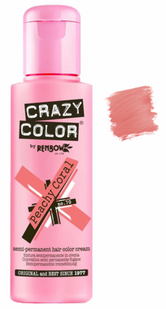 Crazy Color vibrant Shades -CC PRO 70 PEACHY CORAL 150ML-Beauty Zone Nail Supply