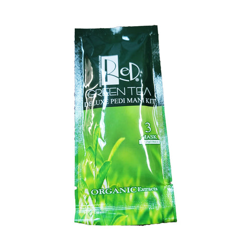 Red Manicure Pedicure Spa Step 3 Green Tea Mask