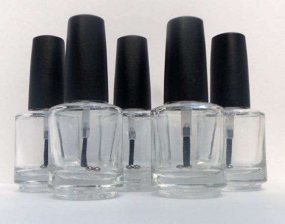 Empty Nail Bottle Clear 0.5 oz
