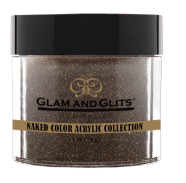 Glam & Glits Naked Color Acrylic Powder (Shimmer) 1 oz Coffee Break - NCAC433