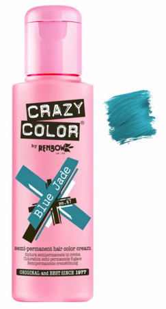 Crazy Color vibrant Shades -CC PRO 67 BLUE JADE 150ML-Beauty Zone Nail Supply
