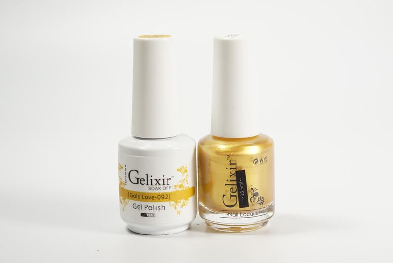 Gelixir Duo Gel & Lacquer Gold Love 1 PK #092-Beauty Zone Nail Supply