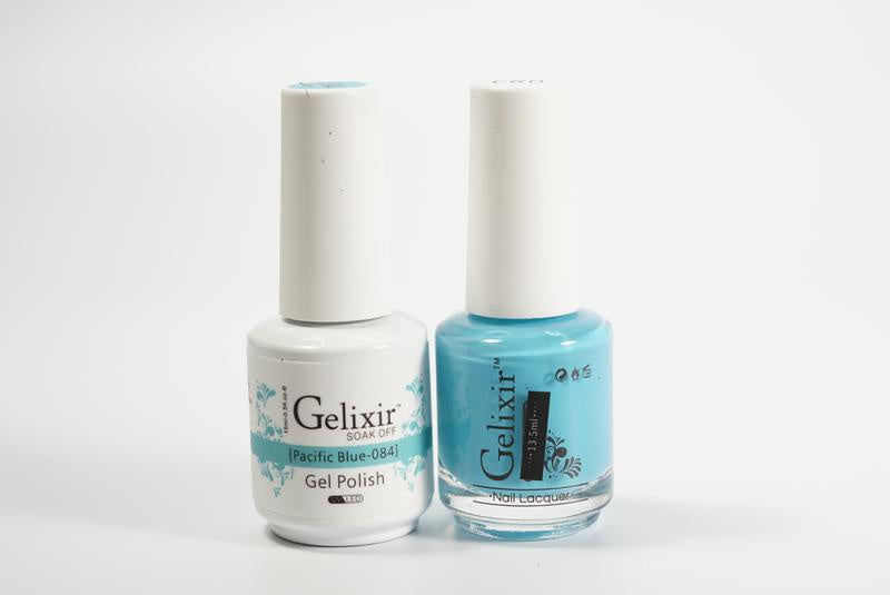 Gelixir Duo Gel & Lacquer Pacific Blue 1 PK #084-Beauty Zone Nail Supply