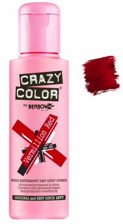 Crazy Color Vibrant Shades - CC PRO 40 VERMILLION RED 150ML-Beauty Zone Nail Supply