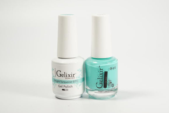 Gelixir Duo Gel & Lacquer Bright Turquoise 1 PK #071