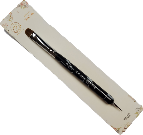 Nail French Brush Black Marble Size 16 w/tool