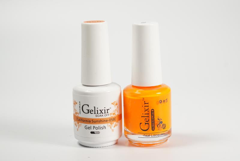 Gelixir Duo Gel & Lacquer California Sunshine 1 PK #058-Beauty Zone Nail Supply