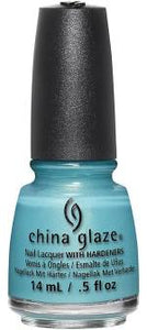 China Glaze Lacquer What I Like About Blue (Neon Blue Shimmer) 0.5 oz #83550-Beauty Zone Nail Supply