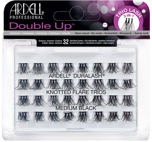Ardell Double Up Knotted Trios Individuals Medium 66494-Beauty Zone Nail Supply