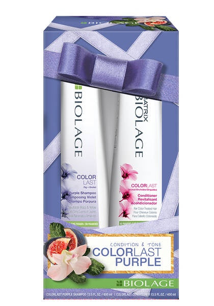 Biolage ColorLast Purple Shampoo and Conditioner Holiday Kit