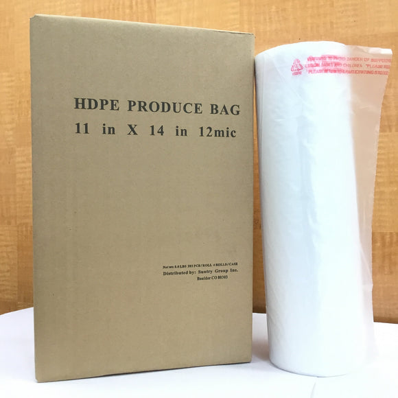 ROLL PLASTIC HDPE BAG 11X14 (393pcs/roll) #1780