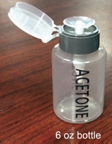 PLASTIC ACETONE PUMP 6 OZ MJ-6ACE GRAY
