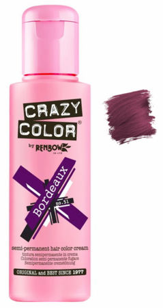 Crazy Color vibrant Shades -CC PRO 51 BORDEAUX 150ML-Beauty Zone Nail Supply