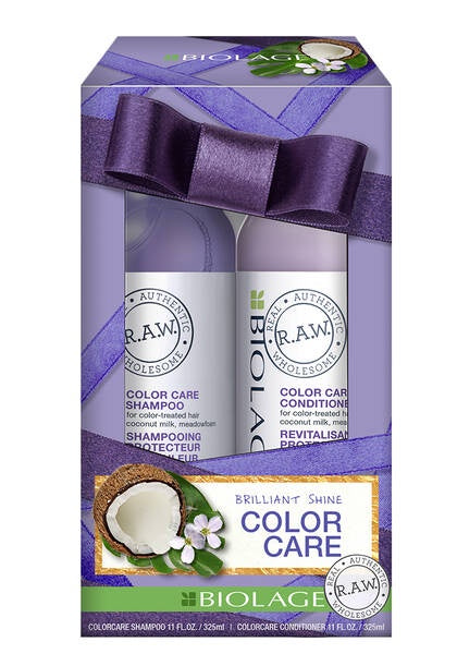 Biolage R.A.W. Color Care Shampoo and Conditioner Holiday Kit