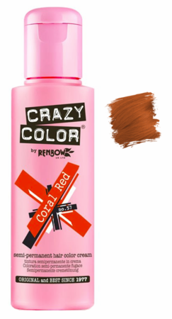 Crazy Color vibrant Shades -CC PRO 57 CORAL RED 150ML-Beauty Zone Nail Supply
