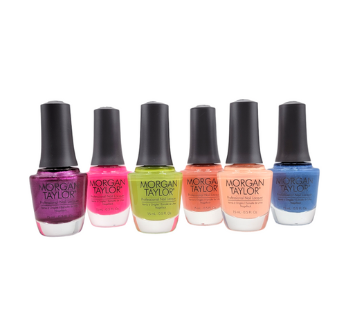 Gelish Feel The Vibes 6 color Nail Lacquer Morgan Taylor