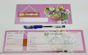 Gift Certificate with Number F #9552-F13