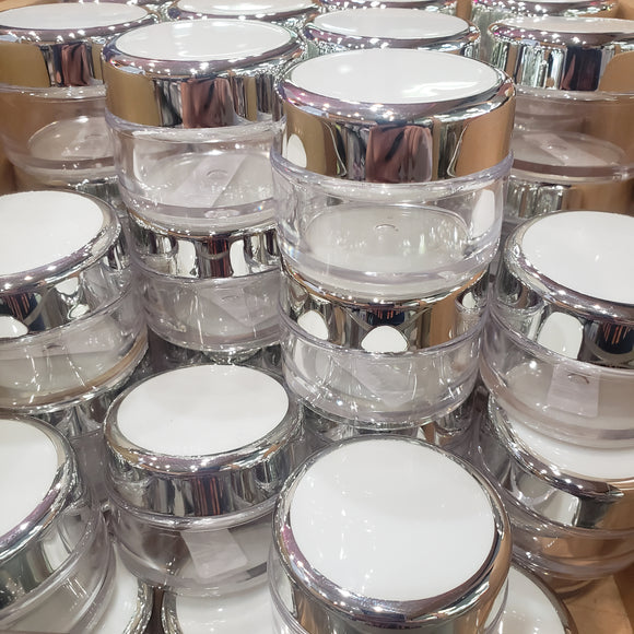 Jar with chromed lip 40 ml #10787