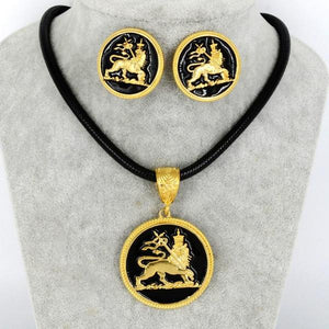 Lion of Judah Necklace & Earrings
