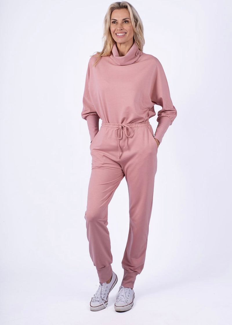 Luxe Dusty Pink tracksuit