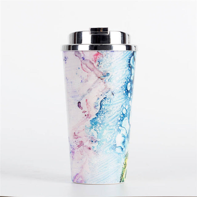 Eco-Friendly Plastic Travel Mug with Lid