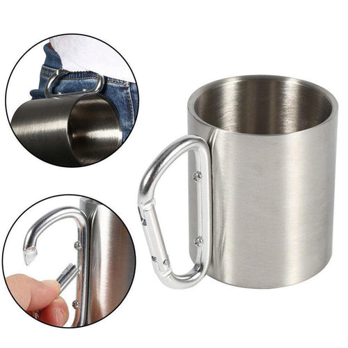 Portable Stainless Steel Outdoor Travel Camping Mug