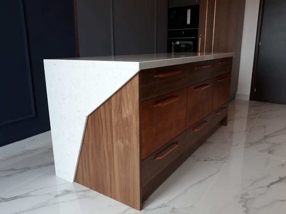 Mobilier bucatarie modern MDF nuanta antracit