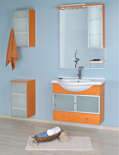 Set masca si lavoar Stilo 85 Orange Arthema