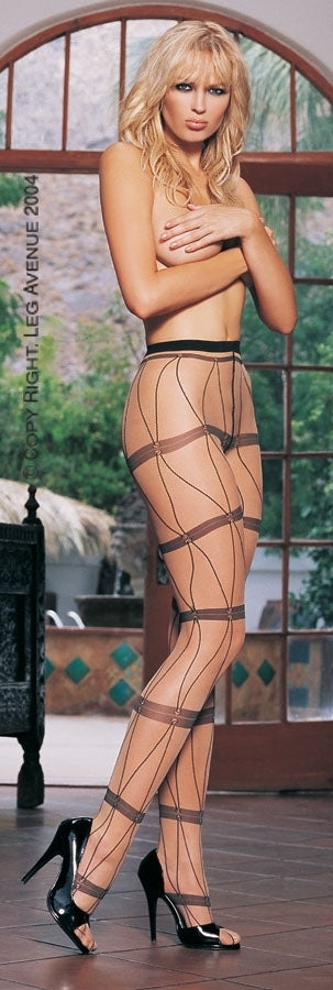 A346 - Lycra Sheer Pantyhose by Leg Avenue