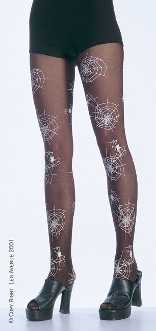 A350 - Cobweb Design Pantyhose by Leg Avenue