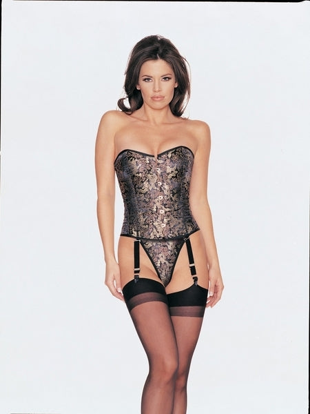 L120 - 2 pc satin brocade corset