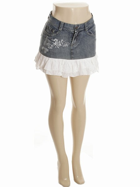 C247 - Exotic denim skirt
