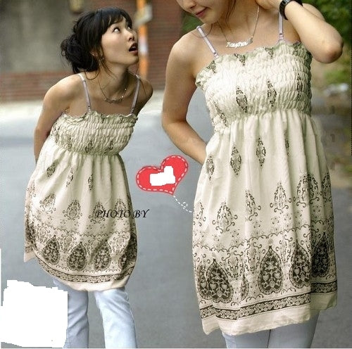 C142 - Printed chiffon dress
