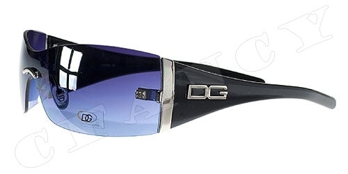 A171 - DG08 Sleek Designer Sunglasses Black with Amber