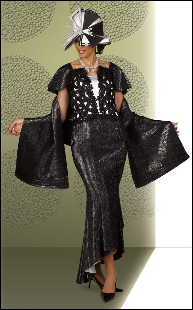 D285 - Incredible Black Formal Evening Gown