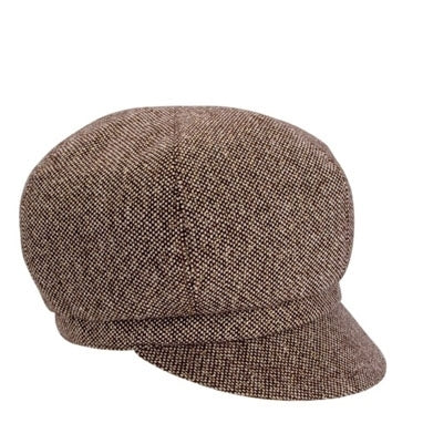 A190 - Sparkle Tweed Newsboy