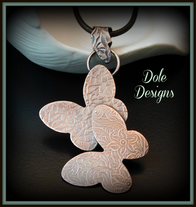 Butterflies in Flight Pendant - Made to Order