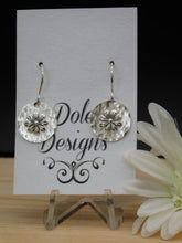 Sterling Silver Flower Stamp Earrings