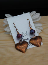 Copper and Handmade Glass Earrings