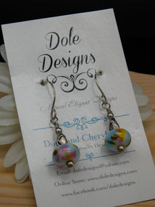 Pastel Glass Bead Earrings