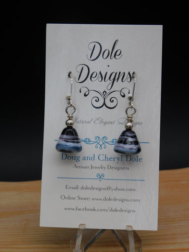 Lampwork Cone Earrings