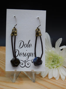 Dangly Lampwork Glass Bead Earrings