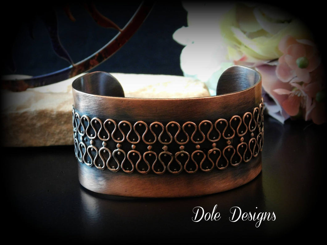 Filigree Copper Cuff Bracelet