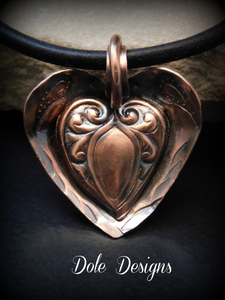 Mystery Bowl Copper Heart Necklace