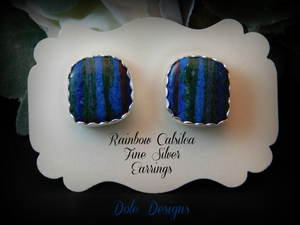 Rainbow Calsilca Post Earrings