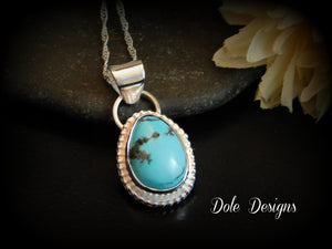 """DAILY DEAL"" Campitos Turquoise Fine Silver Pendant"